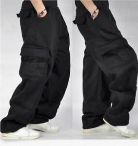Mens-Cargo-Baggy-Hip-Hop-Long-Pants-Trousers-Athletic-Sweatpants-11Colors-Cotton