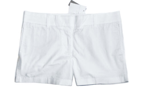Shorts bianco 16 4 in solido Cotton donna Stretch Pantaloncini J Solid crew da White da cotone xB1BZq