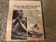 Vintage 1981 NEW BALANCE 730 NB Poster Print Ad Running Shoe