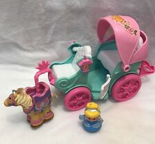 Fisher Price Little People Disney Princess Royal Coach Carriage Horse Cinderella