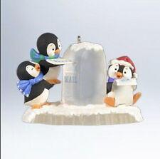 2012 Hallmark PENGUIN Ornament POSTAL PENGUINS Mailing Letter *Priority Ship*