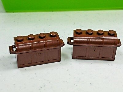 Container with Jewels Lego 2 x Minifigure Pirate Brown Treasure Chest