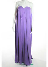 NWT ESCADA Purple Strapless Pleated Full Length Gown Sz 6 $3900 5541768