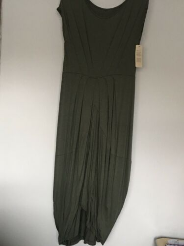 Italian Lagenlook Quirky Pleated Dress Size 12-18