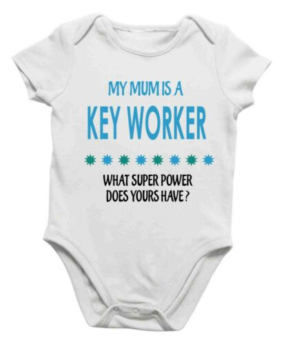 Soft Baby Vest My Mum Is A Key Worker What Super Power Does Yours Have for Gift