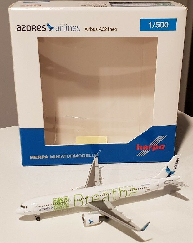 HERPA WINGS 1:500 Azores Airlines Airbus A321 neo. 531634 CS-TSF