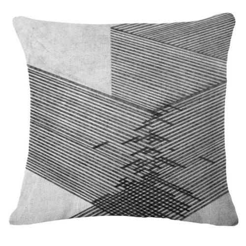Décompression Lin Coton Taie D/'Oreiller Housse De Coussin Throw Home Sofa Décor