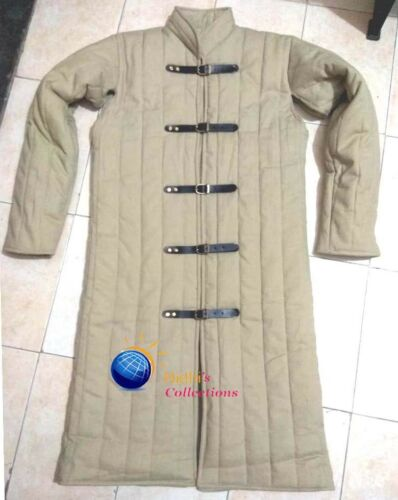 Medieval Gambeson Thick padded Jacket dress costumes coat Aketon Armor sca larp