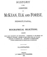 History of McKean, Elk & Forest County PA - Pennsylvania genealogy on CD