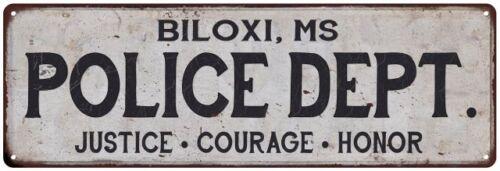 BILOXI Home Decor Metal Sign Gift 106180012822 MS POLICE DEPT