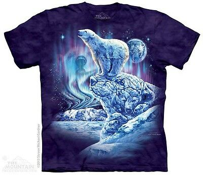 THE MOUNTAIN FIND 11 POLAR BEARS NORTH POLE GLACIER SNOW T TEE SHIRT S-5XL