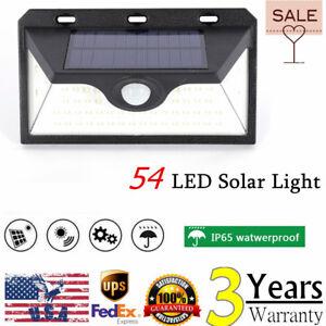 54-LED-Solar-Power-PIR-Motion-Sensor-Wall-Light-Outdoor-Garden-Lamp-Waterproof