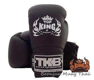 NWT TOP KING Boxing gloves Black TKBGSA 01 Air Muay Thai MMA K1 Gloves 12 14 16