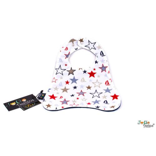 JoGo-Designs 400110082 Lätzchen Stars /& Ships Navy