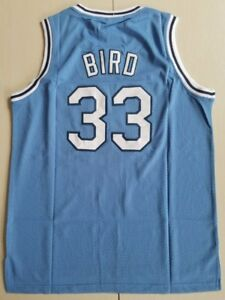 promo code 88574 38a5d Details about Men's Indiana State University Larry Bird #33 Boston Celtics  Basketball Jersey