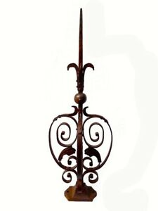 Architectural-3D-Ornate-Finial-Wrought-Iron-amp-Steel