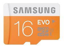 Samsung EVO 16GB MicroSD HC Class 10 Micro SD UHS-1 Memory Card 16G