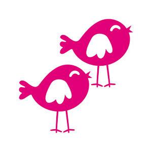 2-Etiquette-Moineau-Oiseau-10cm-Rose-Tatouage-Voiture-Enfant-Meuble-Porte