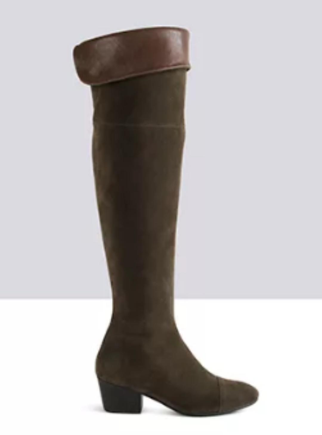 TED & MUFFY HALSTON SUEDE OVER KNEE Stiefel Größe UK 5 EU 38 BT03 78