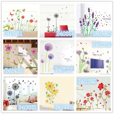 Flowers dandelion Home room Decor Removable Wall Sticker/Decal/Decoration