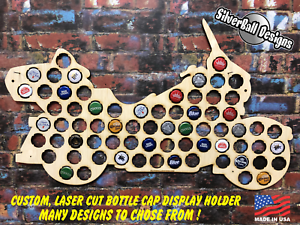 Motorcycle-Touring-Custom-Beer-Pop-Cap-Holder-Collection-Display-Gift-Man-Cave