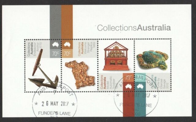 AUSTRALIA 2015 COLLECTIONS AUSTRALIA SOUVENIR SHEET OF 4 STAMPS IN FINE USED