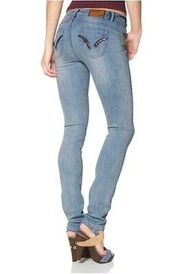Arizona Jeans Röhre Stretch Denim Hüft Slim Hose Blau Used NEU Lang Gr.76,80,84   eBay