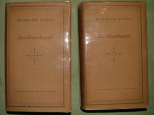 HESSE-Hermann-THE-GLASS-BEAD-GAME-first-edition-Das-Glasperlenspiel-Zurich
