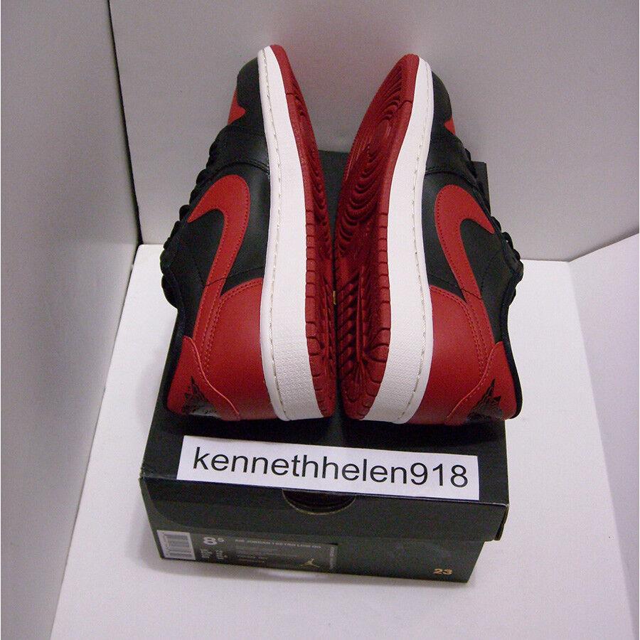 Nuevo 2015 2015 2015 NIKE JORDAN 1 RETRO low og AIR criado Negro Rojo 705329-001 para hombre Talla 8.5 bc9365