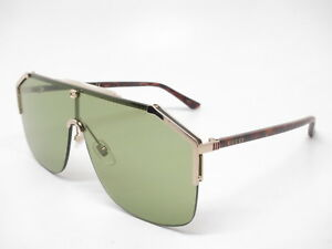 32793968341 New Authentic Gucci GG0291S 004 Gold Havana with Green Sunglasses GG ...