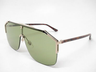 fb74f365146 New Authentic Gucci GG0291S 004 Gold Havana with Green Sunglasses GG 0291S