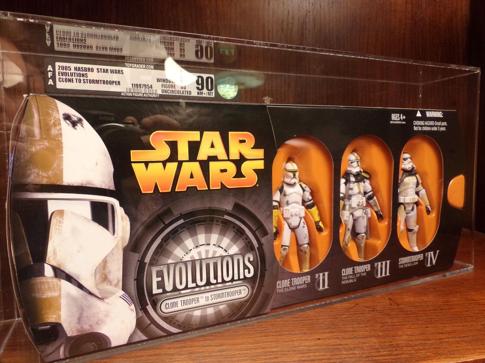 Star Star Star Wars Episode III Evolutions Clone Troopers Action Figure Set AFA U90 b08d7a