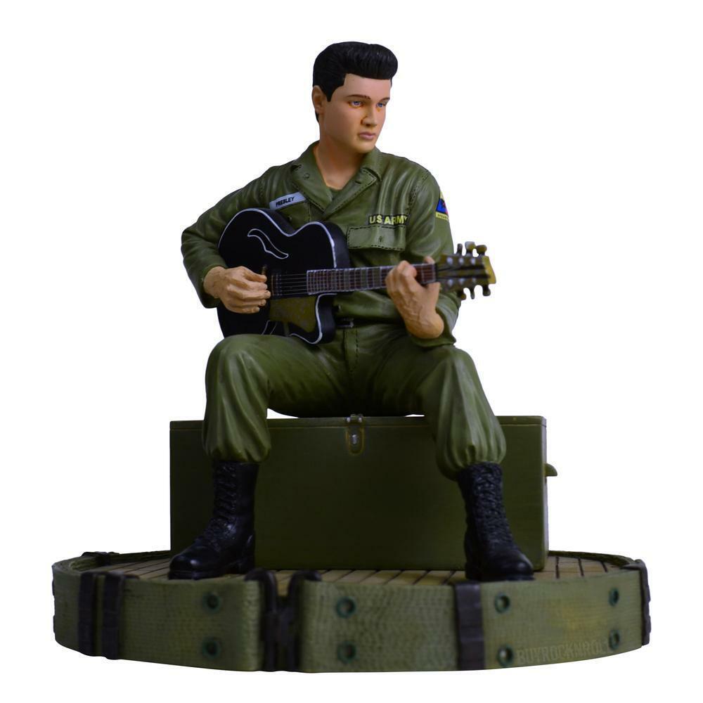 Elvis Presley In The Army Rock Iconz Statue Knucklebonz