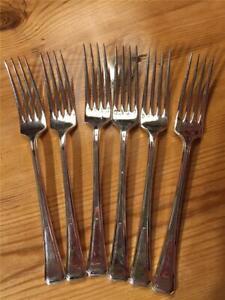 6-x-Vintage-Ryals-Silver-Plate-EPNS-Dinner-Forks-A1-20cm-Sheffield