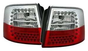Led Taillights Set In Red White For Audi A6 C5 Avant Kombi Rear