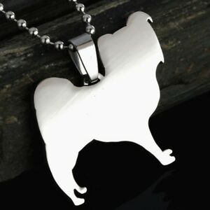 Stainless-Steel-Papillon-Continental-Toy-Spaniel-Butterfly-Dog-Pendant-Necklace