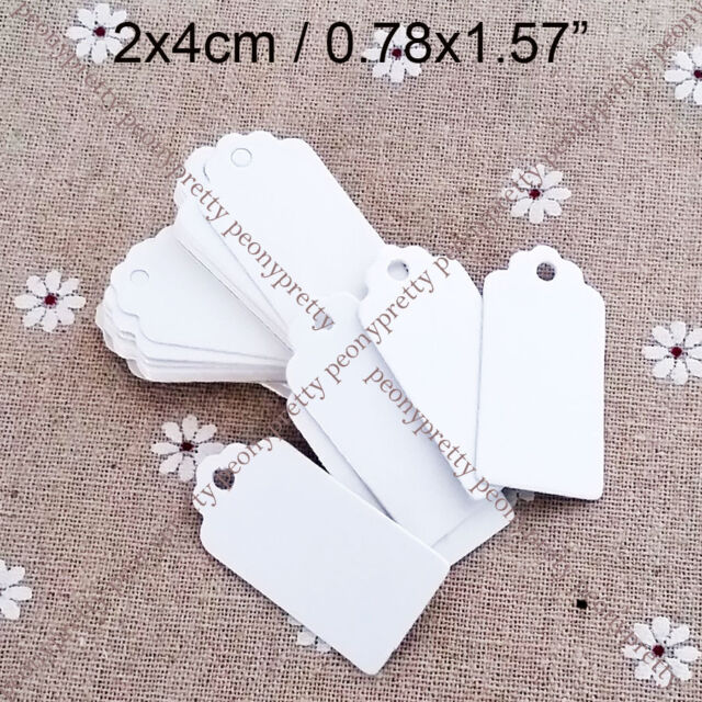 100x 3 colors scallop hang tag label wedding party favor gift price card note