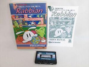 Msx-rabbian-from-USA-Cassette-Ver-Import-Japan-Video-Game-1626-msx