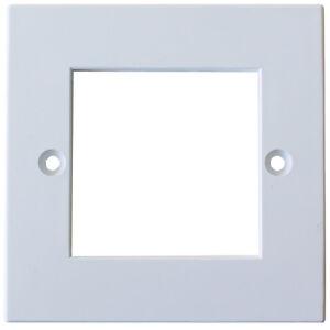 Image is loading Double-Gang-EURO-MODULE-Modular-Wall-Face-Plate-  sc 1 st  eBay & Double Gang EURO MODULE/Modular Wall Face Plate Frame -Cable Tidy ...