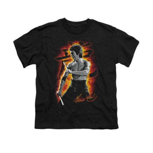 BRUCE LEE DRAGON FIRE Kids Boys Girls Licensed Graphic Tee Shirt SM-XL