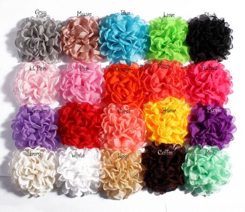 Burned Edge Chiffon Flowers For Children Hair Accessories For Headband DIY 30pcs