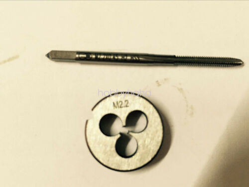 1pc HSS Machine M2.2 X 0.45mm Plug Tap and 1pc M2.2 X 0.45mm Die Threading Tool