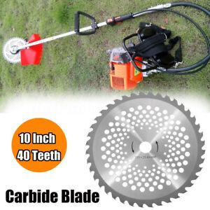 Debroussailleuse-Tondeuse-Gazon-Carbure-Lame-40-Dent-25-4X255MM-Scie-Circulaire