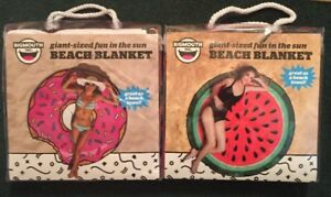 917bbbe1749 Lot Of 2 GIANT 5 FOOT Watermelon & Pink Donut Beach Pool Towel ...