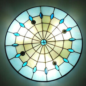 Image Is Loading Stained Glass Dining Room Light Fixture Tiffany Style