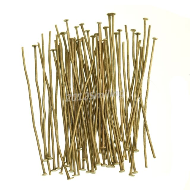 100pcs Silver Golden Head/Eye/Ball Pins Finding 21 Gauge any size U Pick NEW