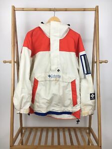 VTG-Columbia-Sport-Hooded-Spellout-Anorak-Insulated-Jacket-Size-L-USA-RARE-COLOR