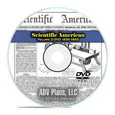 Scientific American, 484 Vintage Issues, 1856-1865, Volume 2 Science PDF DVD F39