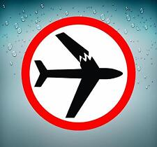 Sticker decal macbook airplane aircraft airport plane pilot avion crash warning