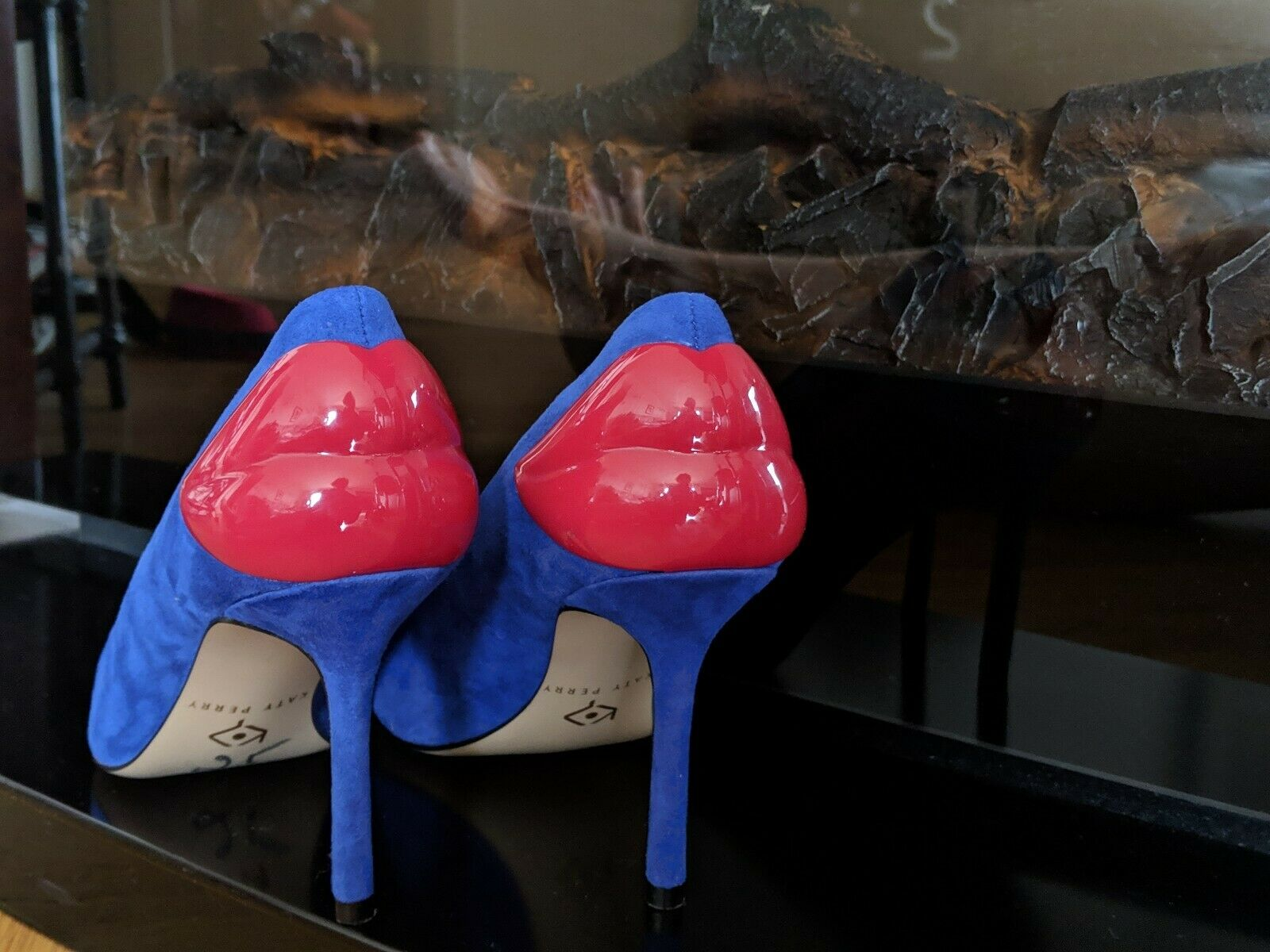 Katy Perry Women's Women's Women's The Femi Red Lips Pump, Space bluee Suede shoes size 5 new 6b4ff2